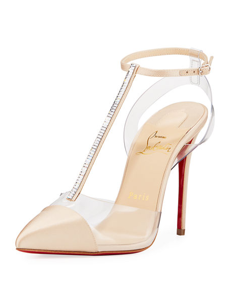 c469ee1c49b Christian Louboutin Nosy Strass Red Sole Pumps In Neutrals