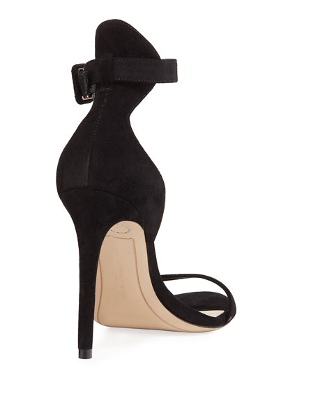 4ab758fbf58 Sophia Webster Nicole Naked High-Heel Suede Ankle-Wrap Sandals In Black