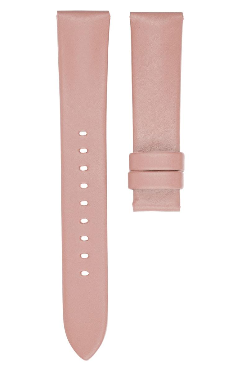 Michael Kors Runway Pink Leather Smart Watch Strap 18mm Modesens
