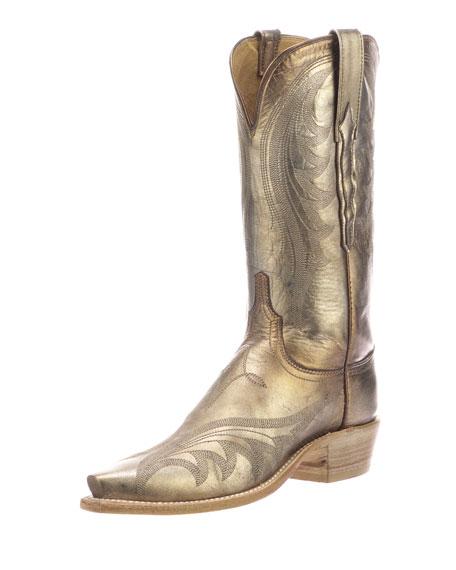 07a2f61e62f Lily Metallic Western Boots in Tan