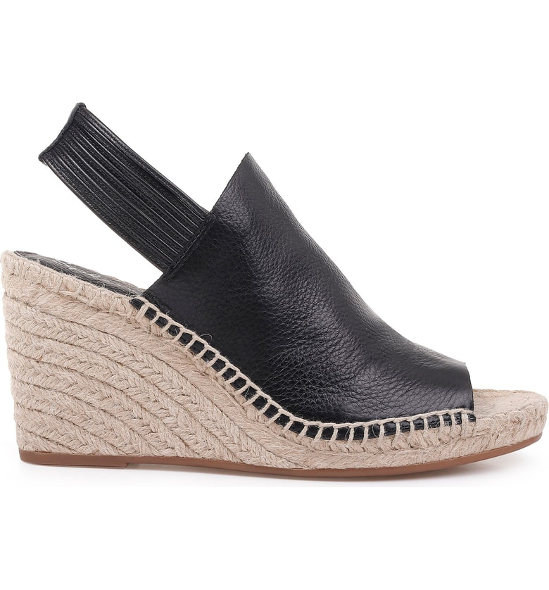 c1f6e77efae Women's Simon Leather Espadrille Wedge Sandals in Black Leather