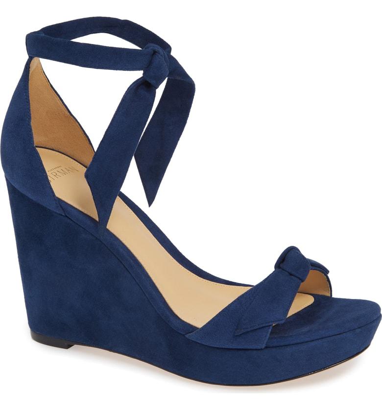 52d01e8a391c Alexandre Birman Clarita Platform Wedge Sandal In Nightsky Suede ...