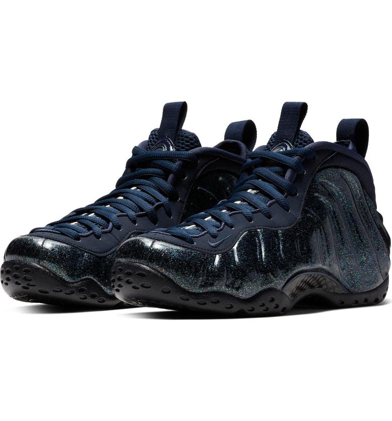 low priced 0f471 83fdb Nike Air Foamposite One Sneaker In Obsidian  Metallic Gold  Green