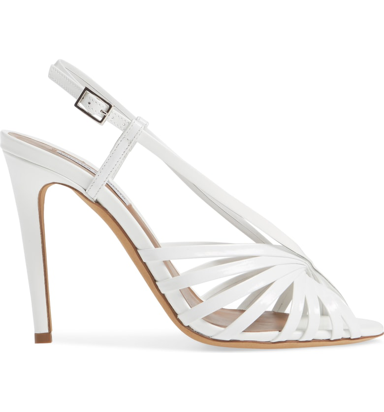 b94383b3a3 Tabitha Simmons Women's Jazz Strappy Slingback High-Heel Sandals In White