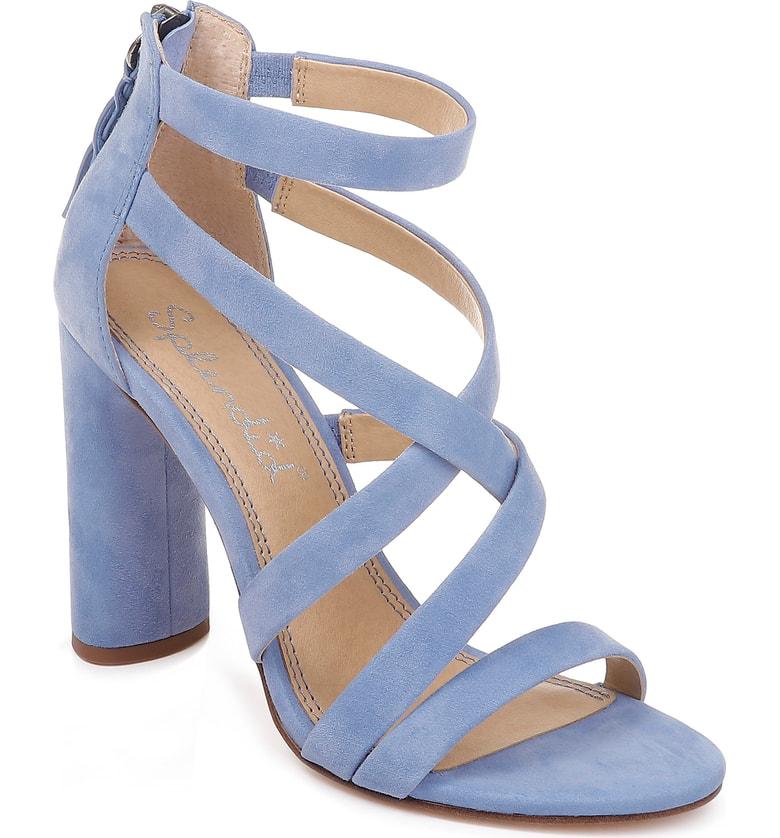efd4954c7ce Splendid Stuart Block Heel Sandal In Periwinkle Suede