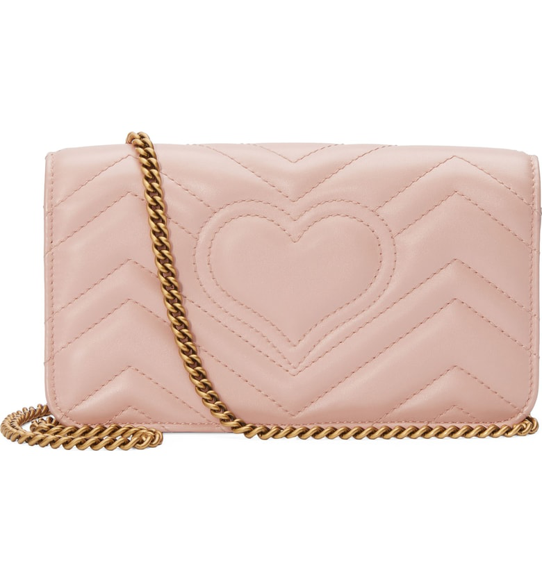 Gucci Marmont 2.0 Leather Shoulder Bag - Pink In Perfect Pink