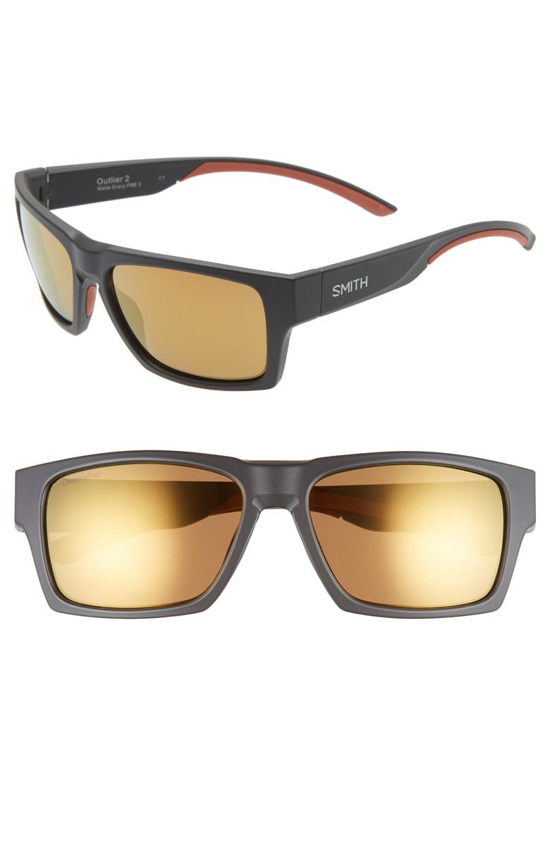 7c1afe608137 Smith Outlier 2 57Mm Chromapop(Tm) Polarized Sunglasses - Matte Gravy   Bronze Mirror