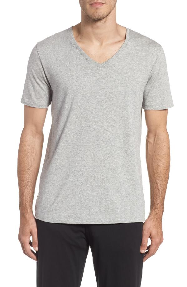 b2dd93ab1c376b Tommy John Second Skin V-Neck T-Shirt In Heather Grey