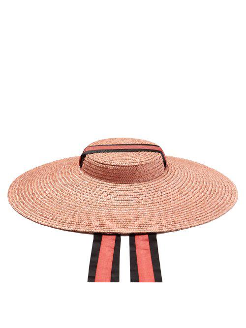 291c668d Eliurpi - Ribbon Embellished Straw Hat - Womens - Pink | ModeSens