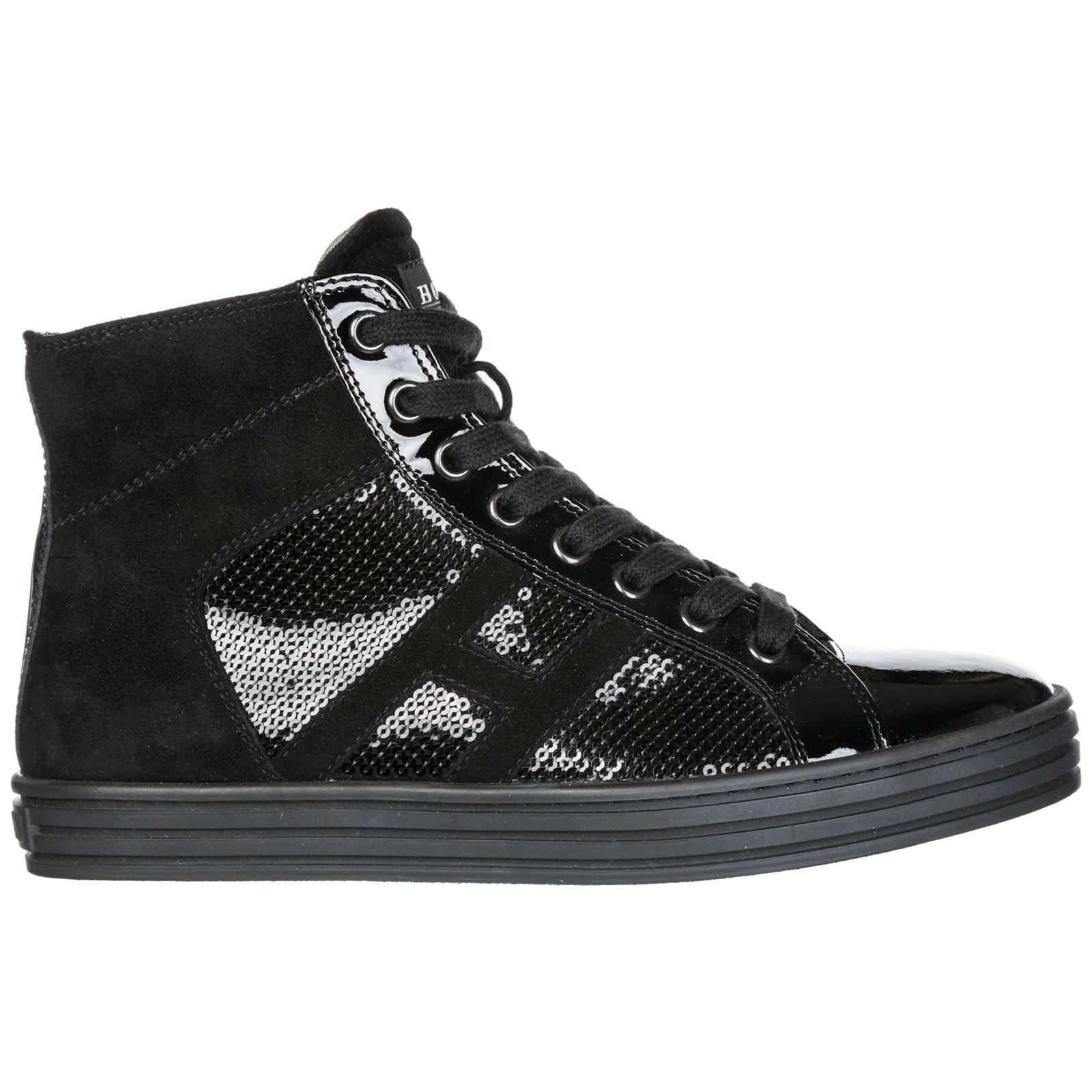 Hogan Rebel Women's Shoes High Top Suede Trainers Sneakers R141 In ...