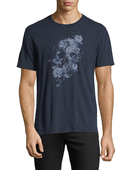 efbacf25e John Varvatos Men's Floral Graphic T-Shirt In Navy | ModeSens