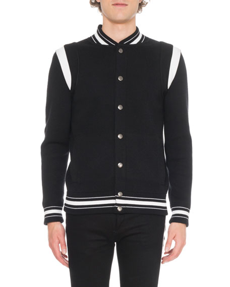 acc38593e Knitted Bomber Jacket With 4G Logo Embroidery in Black