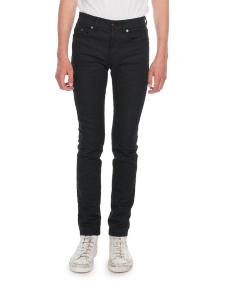 7149ab3877b Saint Laurent Men's Sunburn-Denim Skinny Jeans In Black   ModeSens