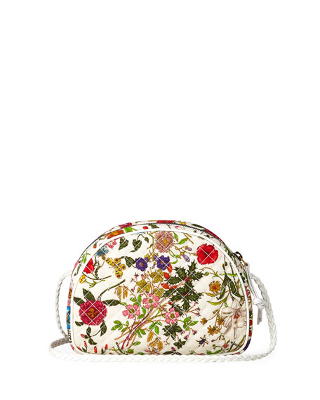d7bd6946e87 Gucci Small Trapuntata Floral Quilted Crossbody Bag - White In White Multi