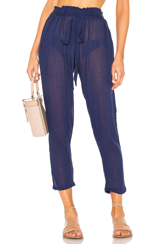 Summer Of Love Hudson Swim Cover-Up Pants in Shore Blue