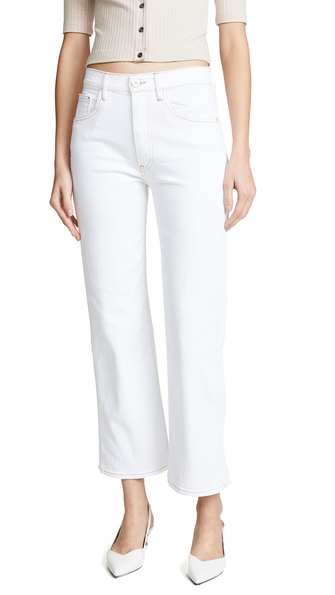 acc8f363a361 3X1 Joni High-Rise Crop Wide-Leg Jeans In Winter White