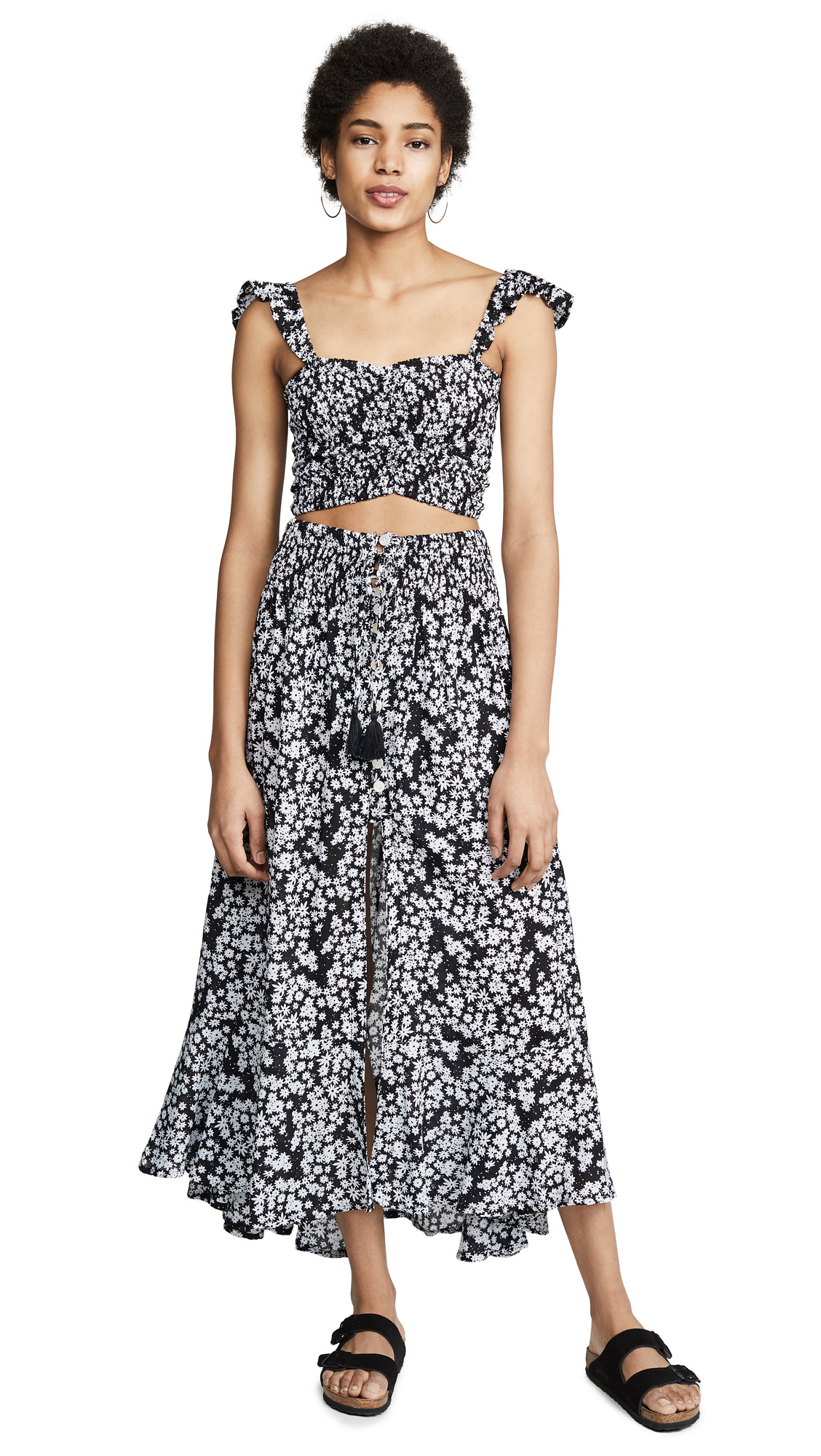 c947609478 Tiare Hawaii Hollie Top & Dakota Skirt Set In Scattered Daisy Black/White