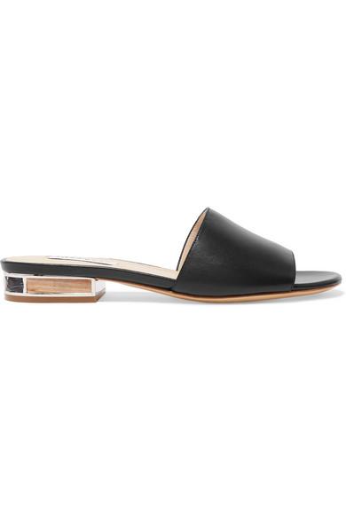 BlackModesens Monica Leather Hearst Sandals In Gabriela Slide wmvN8n0