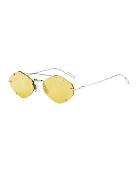 bf2a75fea Dior Men's Inclusion Rimless Mirrored Sunglasses In Yellow | ModeSens