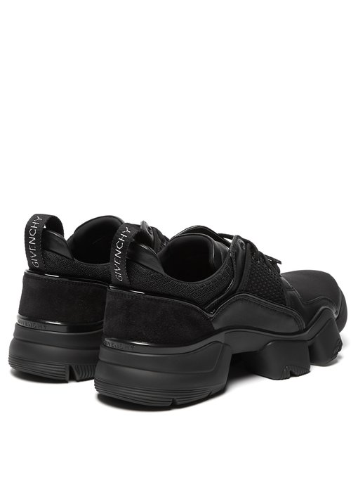Givenchy Black Jaw Leather And Neoprene Low-Top Sneakers