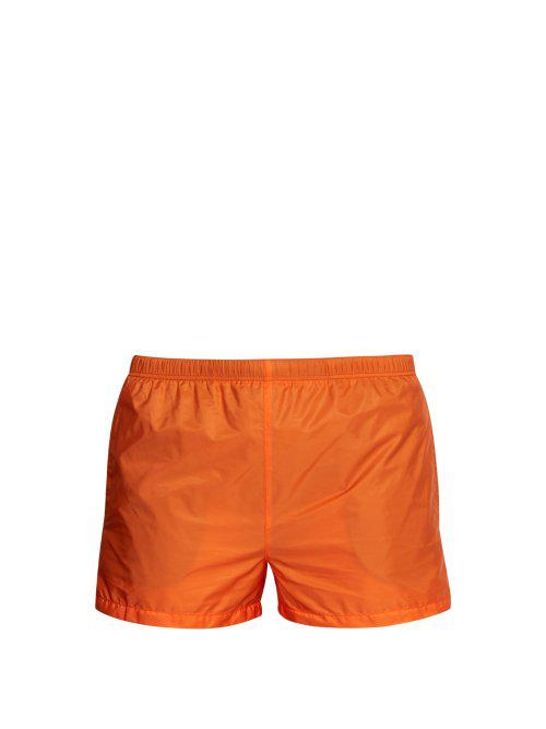 20543c6a29dfd Prada - Nylon Swim Shorts - Mens - Orange | ModeSens