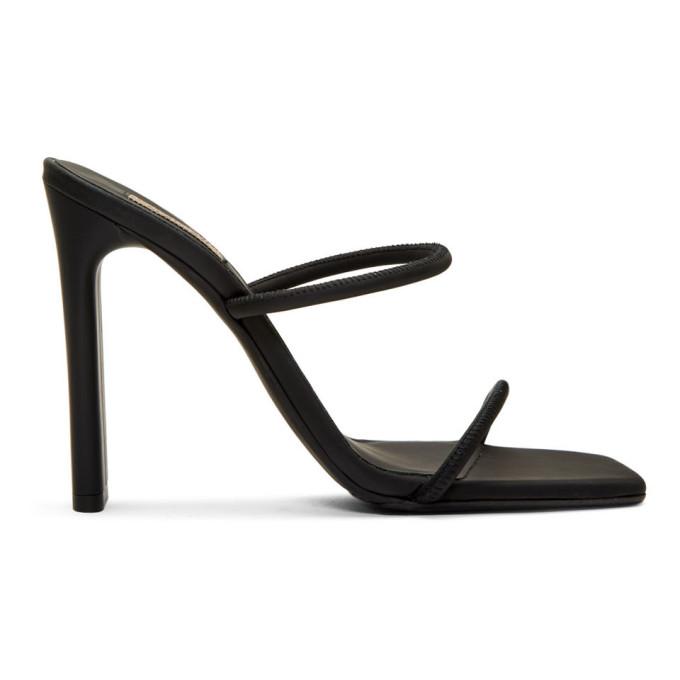 0c557dedd Yeezy Black Minimal Heel Sandals In Graphite | ModeSens