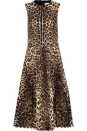 55648fc6d5e Red Valentino Redvalentino Woman Metallic Leopard-Jacquard Midi Dress  Animal Print