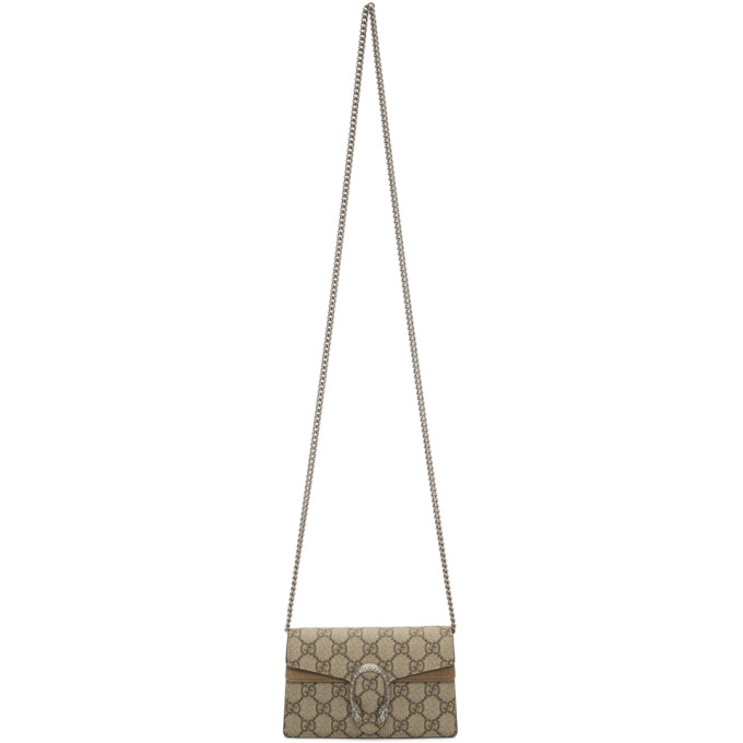 d137f9feee8a Gucci Beige Gg Supreme Super Mini Dionysus Bag In 8642 Brown | ModeSens
