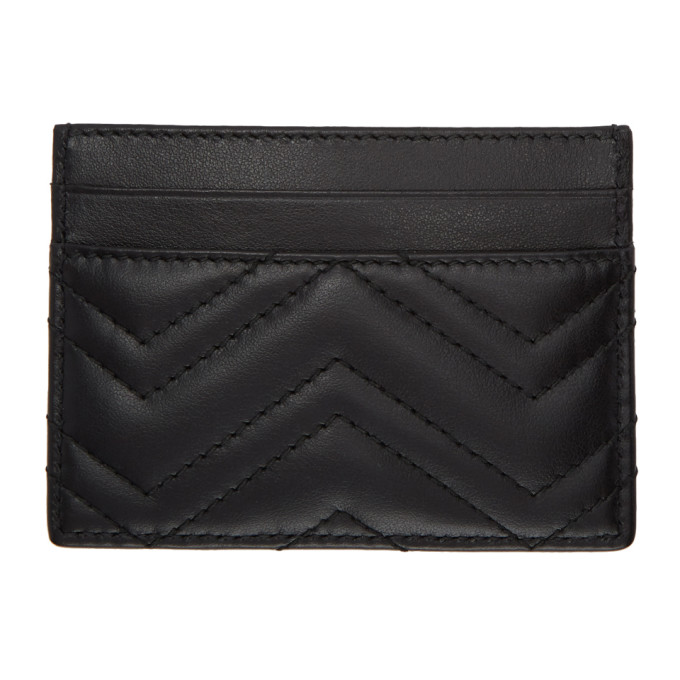 b9fa0f70bdd6 Gucci Gg Marmont Quilted Leather Card Holder In 1000 Black | ModeSens