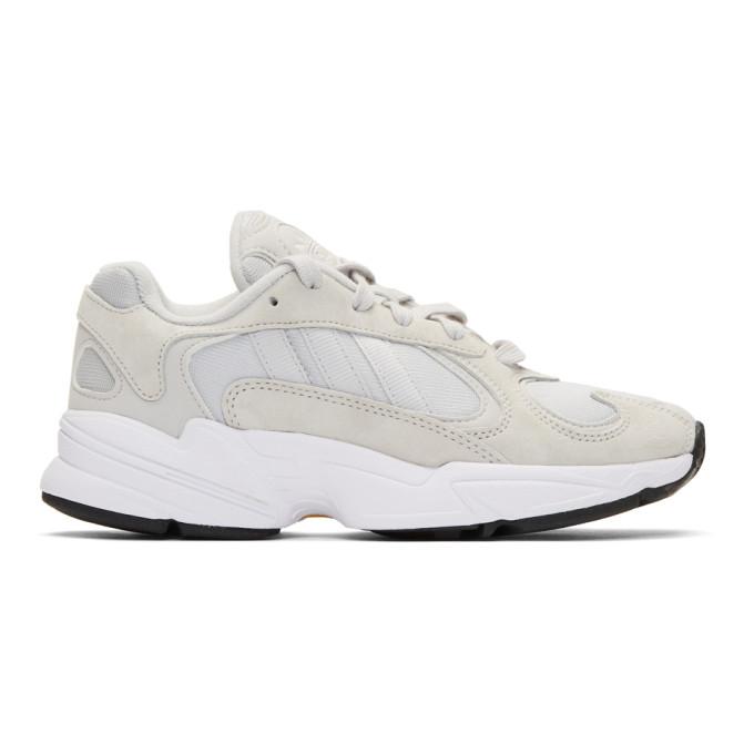 9d0aeb032ff19 Adidas Originals Grey Yung-1 Sneakers In Grey Wht