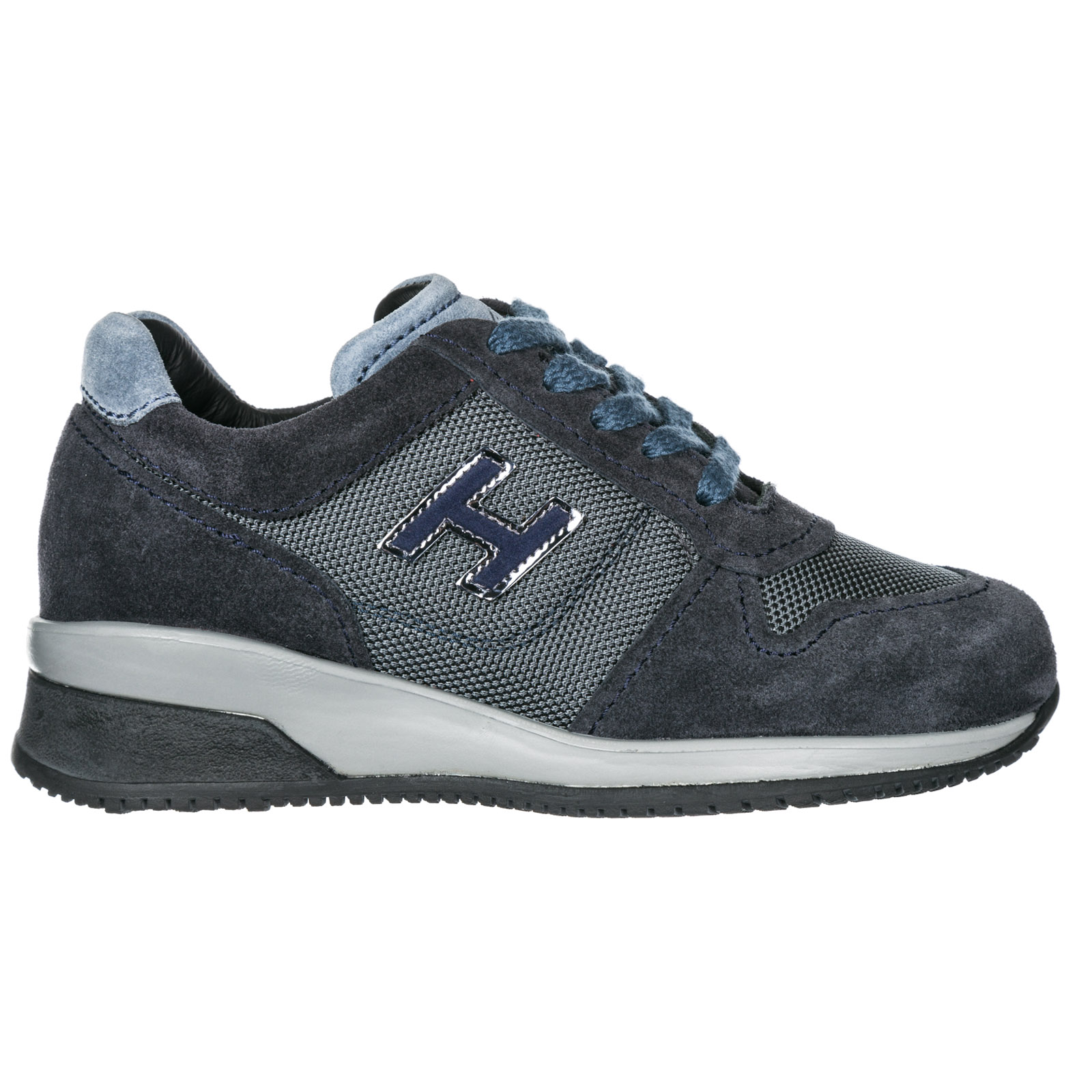Boys Shoes Child Sneakers Suede Leather Elective in Grey