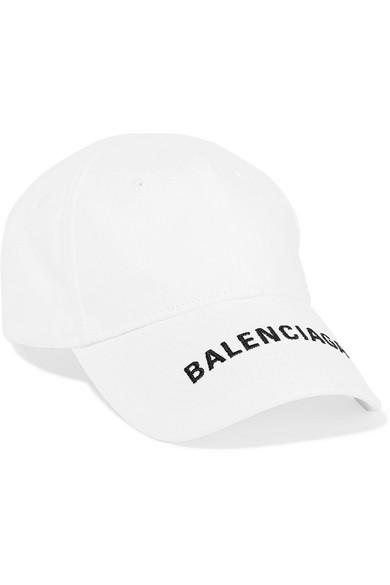 40efced02429 Balenciaga Embroidered Cotton-Twill Baseball Cap In Grey | ModeSens