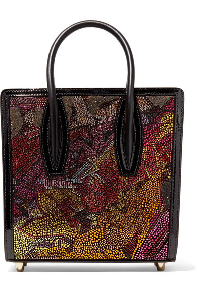 1f9bd17c7ee Paloma Small Embellished Printed Leather Tote in Metallic