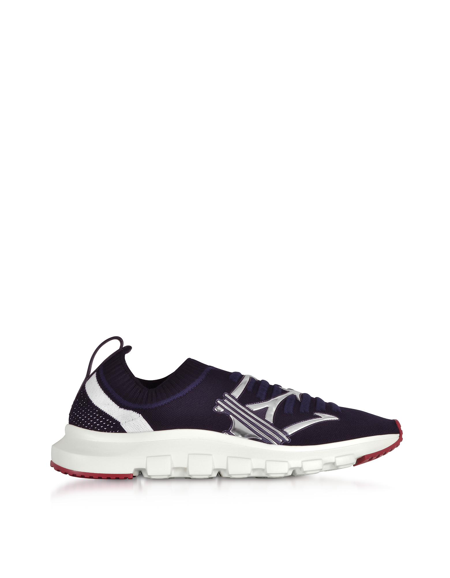 fccdb49890 Ermenegildo Zegna Navy Blue Techmerino Men's Sneakers   ModeSens