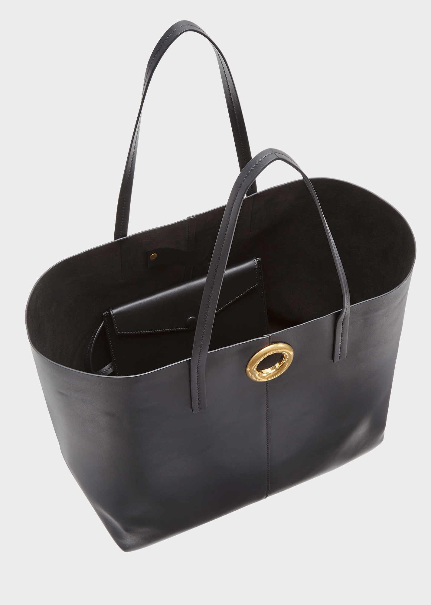Versace Calf Leather Shoulder Tote Bag With Barocco Scarf In Black Multi  Tribute Gold 13d50c1587a3b
