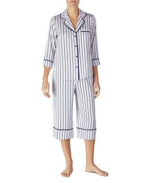 f8d57db9d65 Kate Spade Striped Heart Charmeuse Cropped Pajama Set