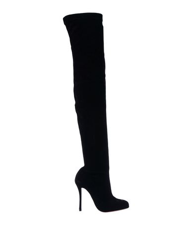 ffc539a29e4 Christian Louboutin Classe 100 Stretch-Velvet Over-The-Knee Boots In Black