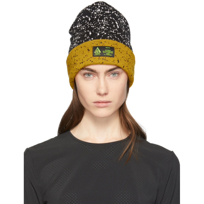 f1d625ac Nike Lab Black And Yellow Errolson Hugh Edition Acg Beanie | ModeSens