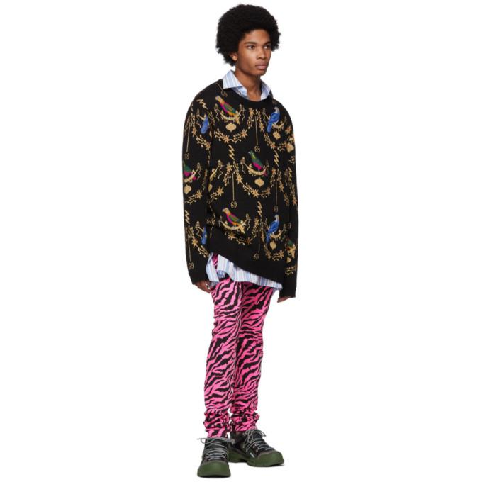 3216d7a7985 Gucci VoliÉRe Jacquard Wool-Blend Jumper In Black