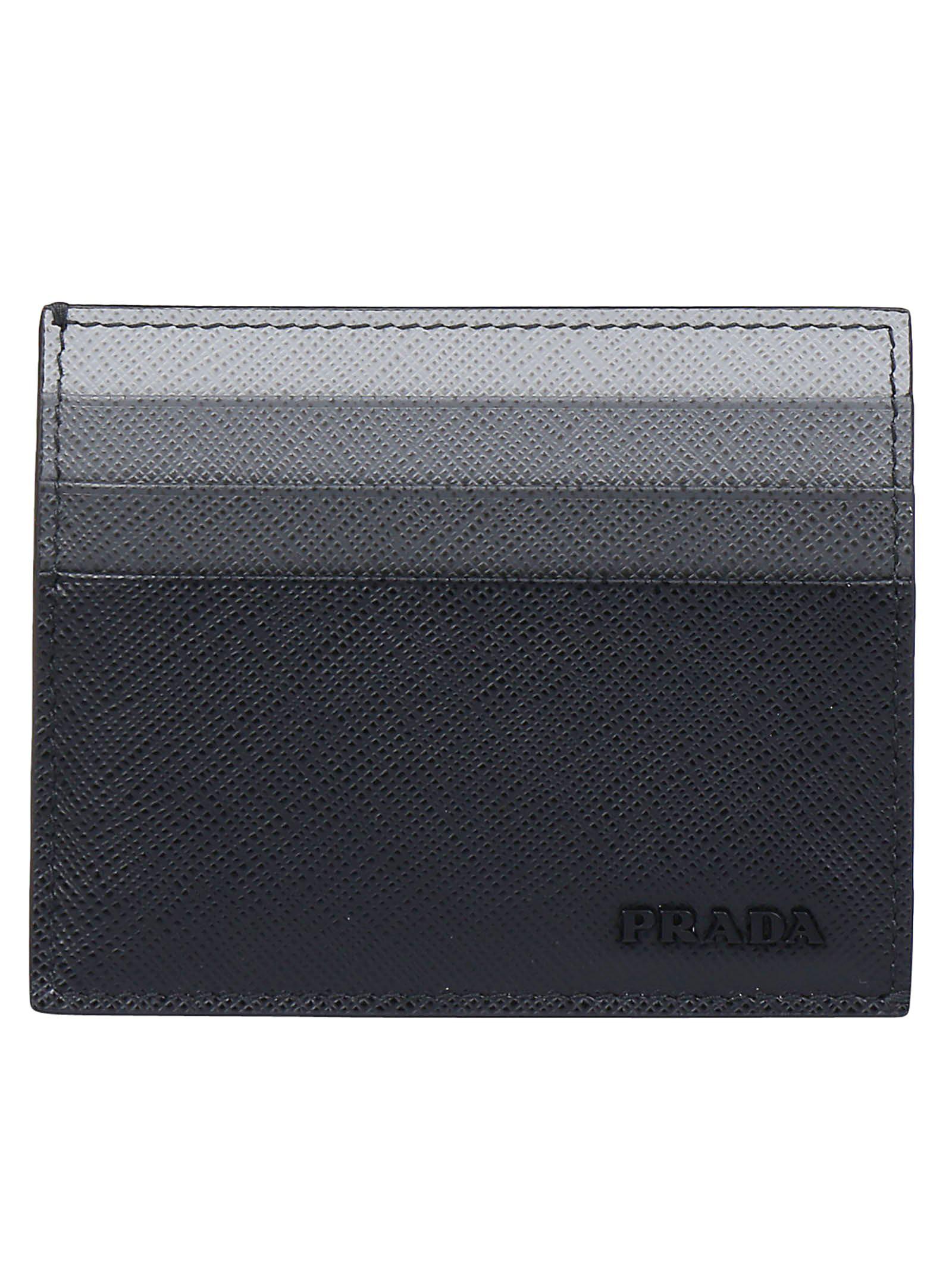 38aa660f7e29a3 Prada Saffiano Cardholder In Black   ModeSens
