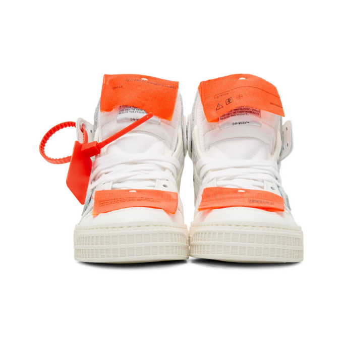 Off-White AppliquÉD Logo-Embellished Canvas, Textured-Leather And Suede High-Top Sneakers In White