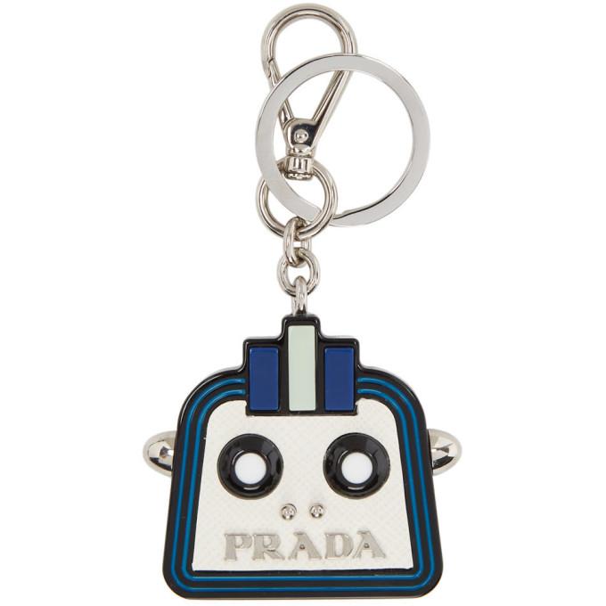 ab8de0f140d1 Prada White Trick Robot Keychain In F0009 Bianc | ModeSens