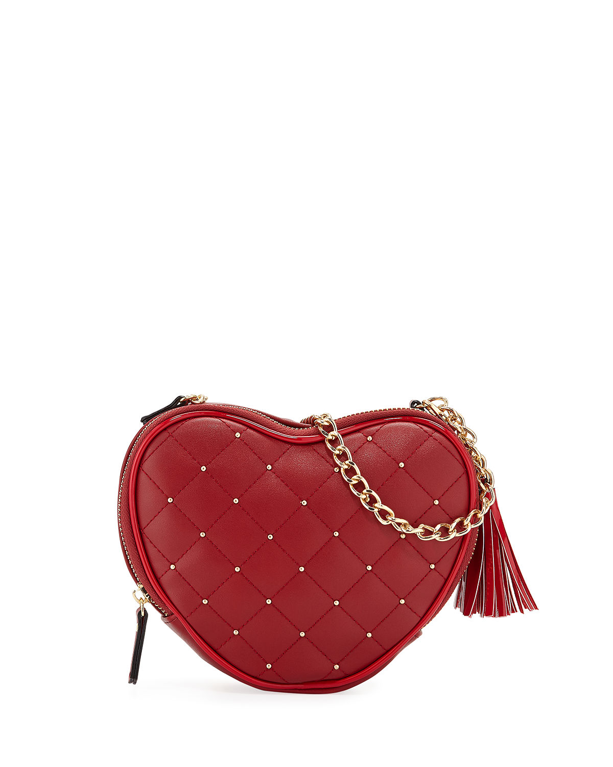 1aa497770 Neiman Marcus Annie Studded Heart Crossbody Bag In Red | ModeSens