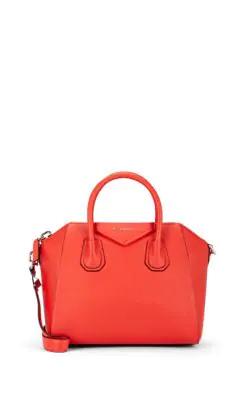 aa822e6a10 Givenchy Antigona Small Sugar Goatskin Satchel Bag In Red
