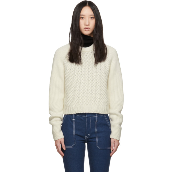 2ee29ec64428 ChloÉ Chloe Off-White Wool Cashmere Chunky Sweater In 114 White ...