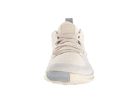 13460857a304 Nike Free Tr 3 Champagne Crinkled Leather-Trimmed Flyknit Sneakers In Ecru