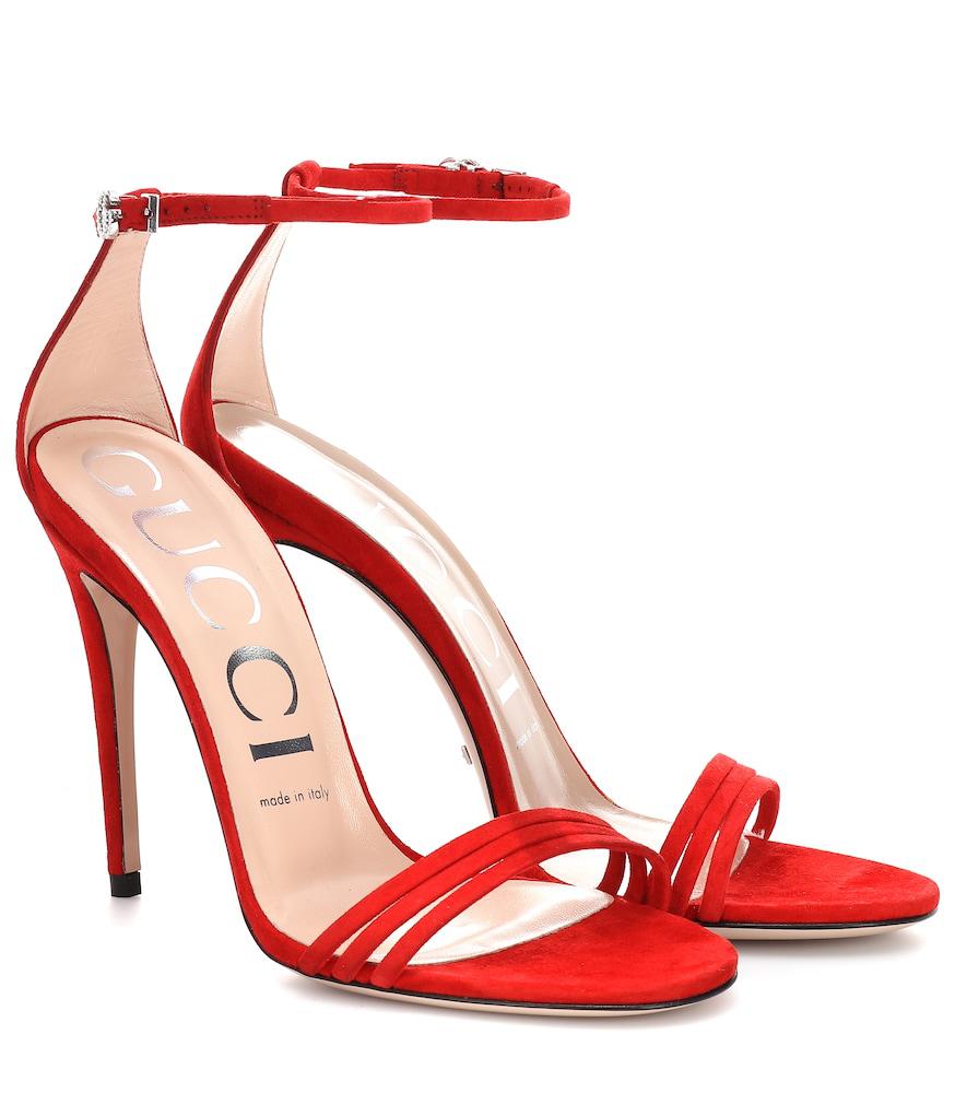 c6c0962f77f0 Gucci Ilse Sandals 110 In Red