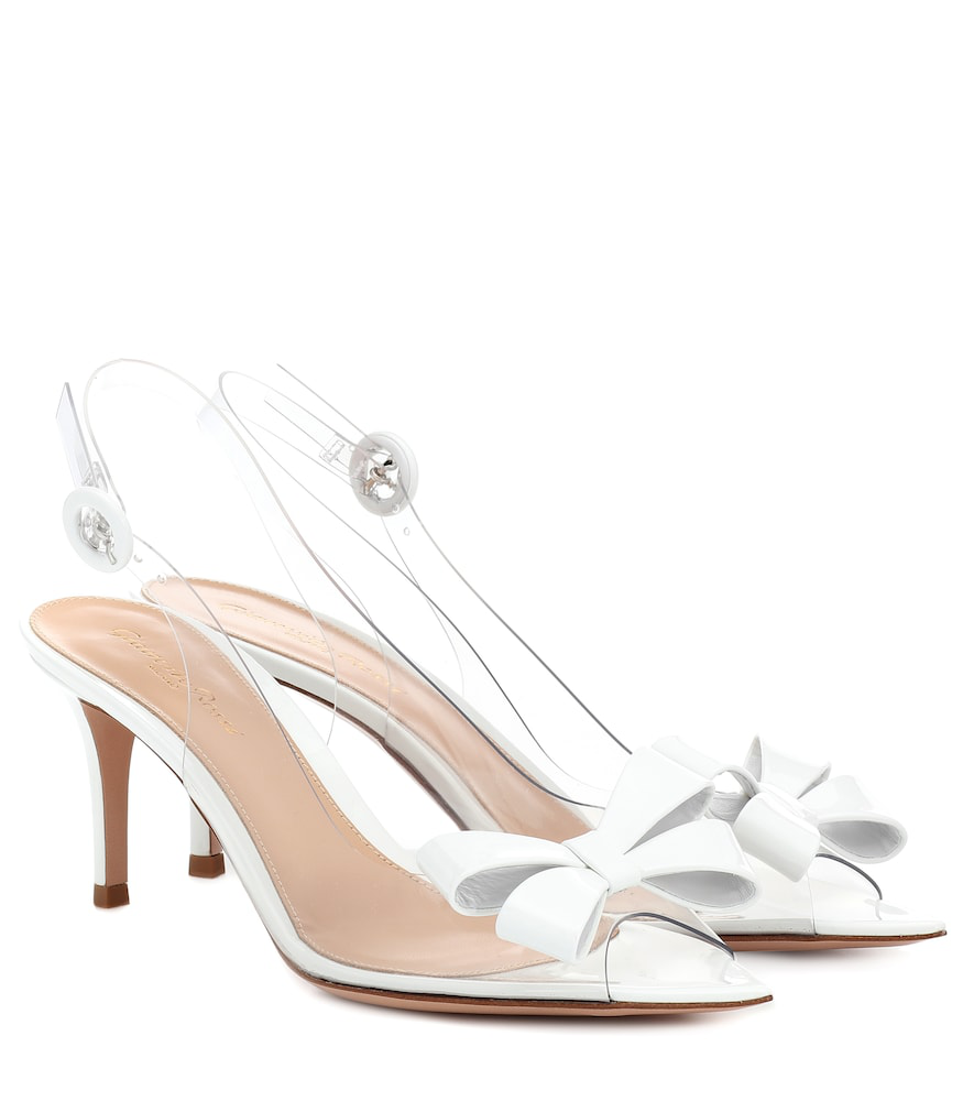 92ad81a0756 Gianvito Rossi Plexi 70 Slingback Sandals In White