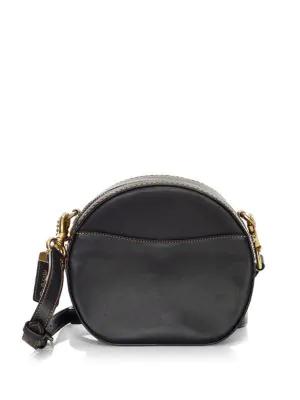 d95e7e2592a3 Coach Canteen Leather Crossbody Bag In Black