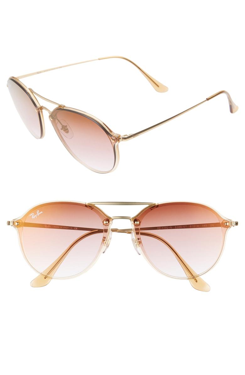 ea5143b58f Ray Ban 61Mm Gradient Aviator Sunglasses - Gold  Brown Gradient ...
